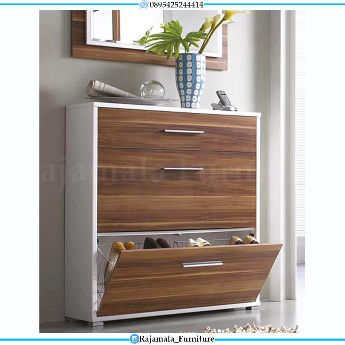 Harga Rak Sepatu Minimalis Kayu Furniture Jepara Luxury Modern RM-0564