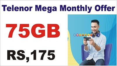 Telenor Mega Monthly Offer 2021