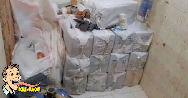 Encuentran 500 kilos de cocaína tras una pared falsa de la casa en Anzoátegui