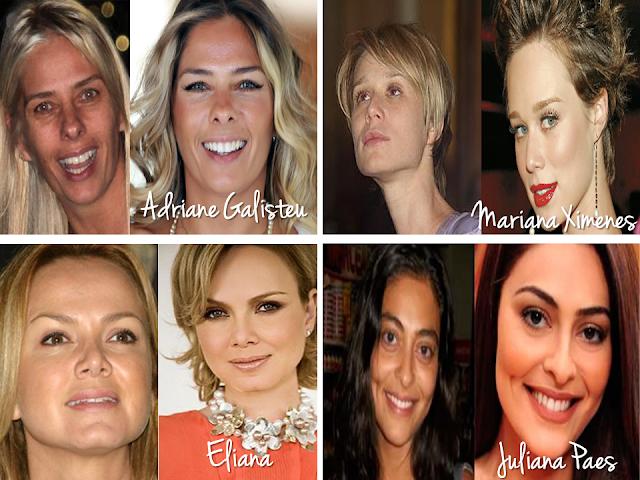 celebridades nacionais sem maquiagem