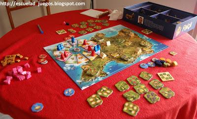 Reseña del juego de mesa Finca, ambientado en Mallorca y editado en español por Devir
