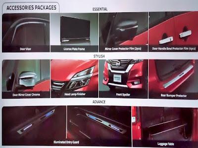 Gambar Aksesoris Mewah Nissan Serena