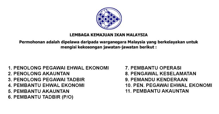 Jawatan Kosong Baru Dibuka di Lembaga Kemajuan Ikan Malaysia LKIM