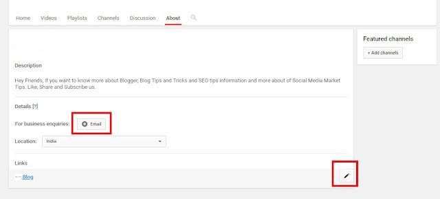 यूट्यूब चैनल पर Social Logo कैसे Add करे