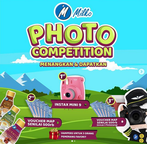 Kontes Foto Milko Berhadiah Instax Mini 9, Voucher MAP & Hampers