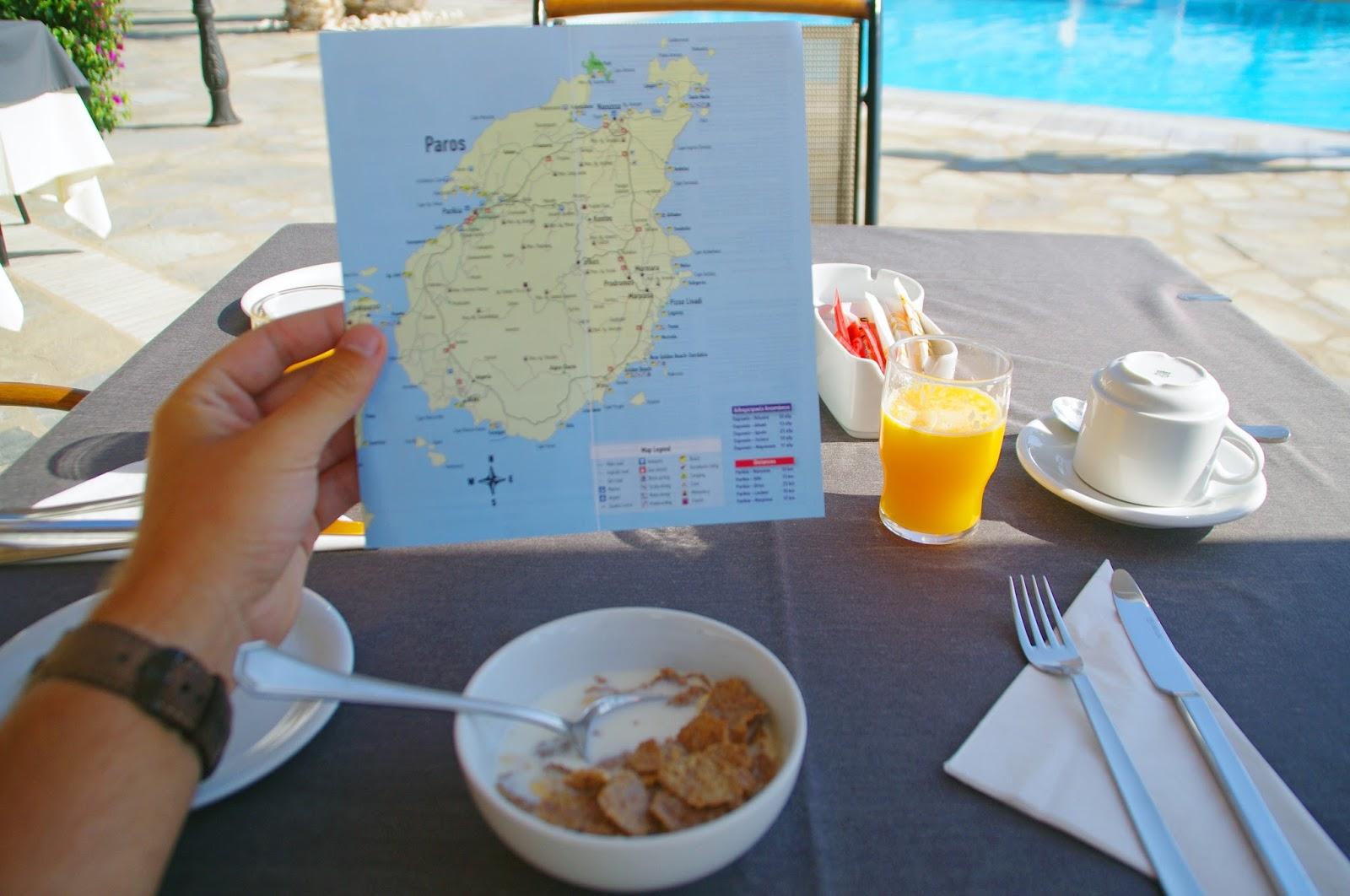Astir of Paros Breakfast and planning adventures