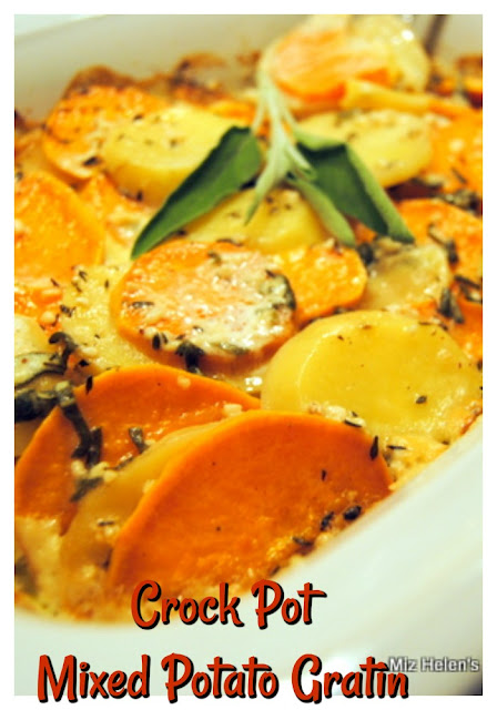 Crock Pot Mixed Potato Gratin at Miz Helen's Country Cottage