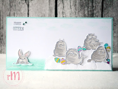 Stampin' Up! rosa Mädchen Kulmbach: Stamp A(r)ttack Blog Hop: Hoppy Easter – Osterkarte mit We'll Walrus be friends, Hasenparade, Fable Friends und Gut gesagt