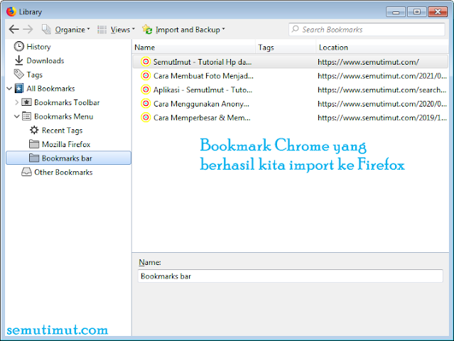cara export bookmark google chrome pc