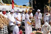 Bupati Tabanan Dr. I Komang Gede Sanjaya Gelar Upacara Tawur Kesanga di Catus Pata