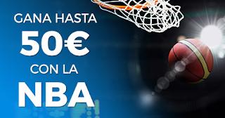 Paston apuesta gratis 50 euros NBA hasta 1 noviembre