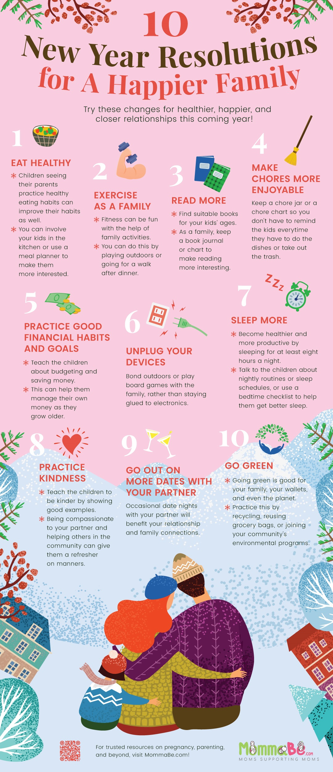 10 New Year Resolutions For A Happier Family #infographic #Family #New Year Resolutions #New Year #infographics #Happier Family