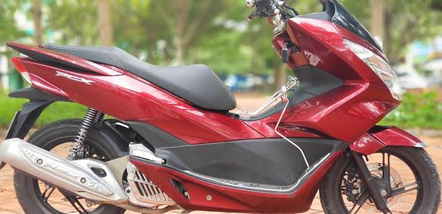 Sơn xe máy Honda PCX màu đỏ candy cực đẹp