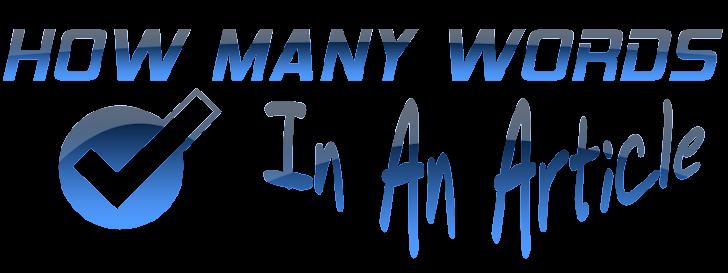 Cara Menghitung Jumlah Kata Dalam Suatu Artikel