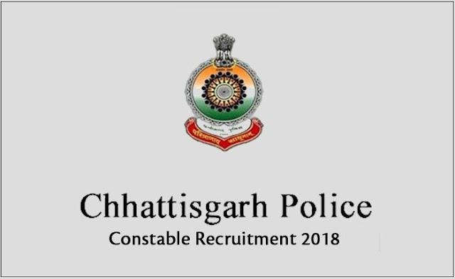 chhattisgarh police recruitment 2018