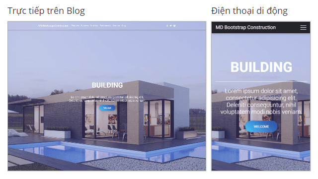 Material Design Bootstrap Construction Landing Page Blogger Template