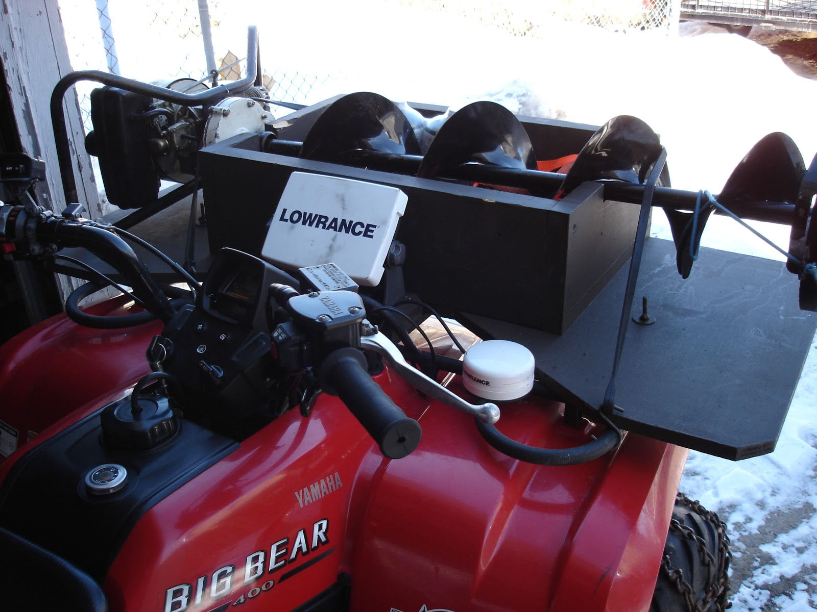 Polaris Ranger Ice Auger Mount | Ice Auger Holder For ... |Ice Auger Mount
