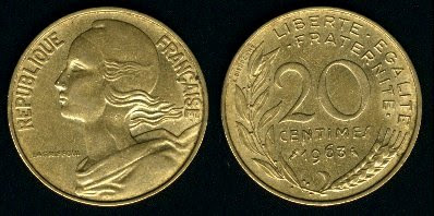 France 20 Centimes (1962-2001) Coin