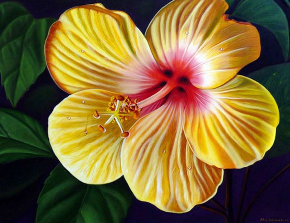Cuadros pinturas arte cuadros con modernas flores - Cuadros flores modernas ...