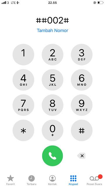 Cara Menghilangkan Logo Telefon Dikiri Atas  Pada IPHONE
