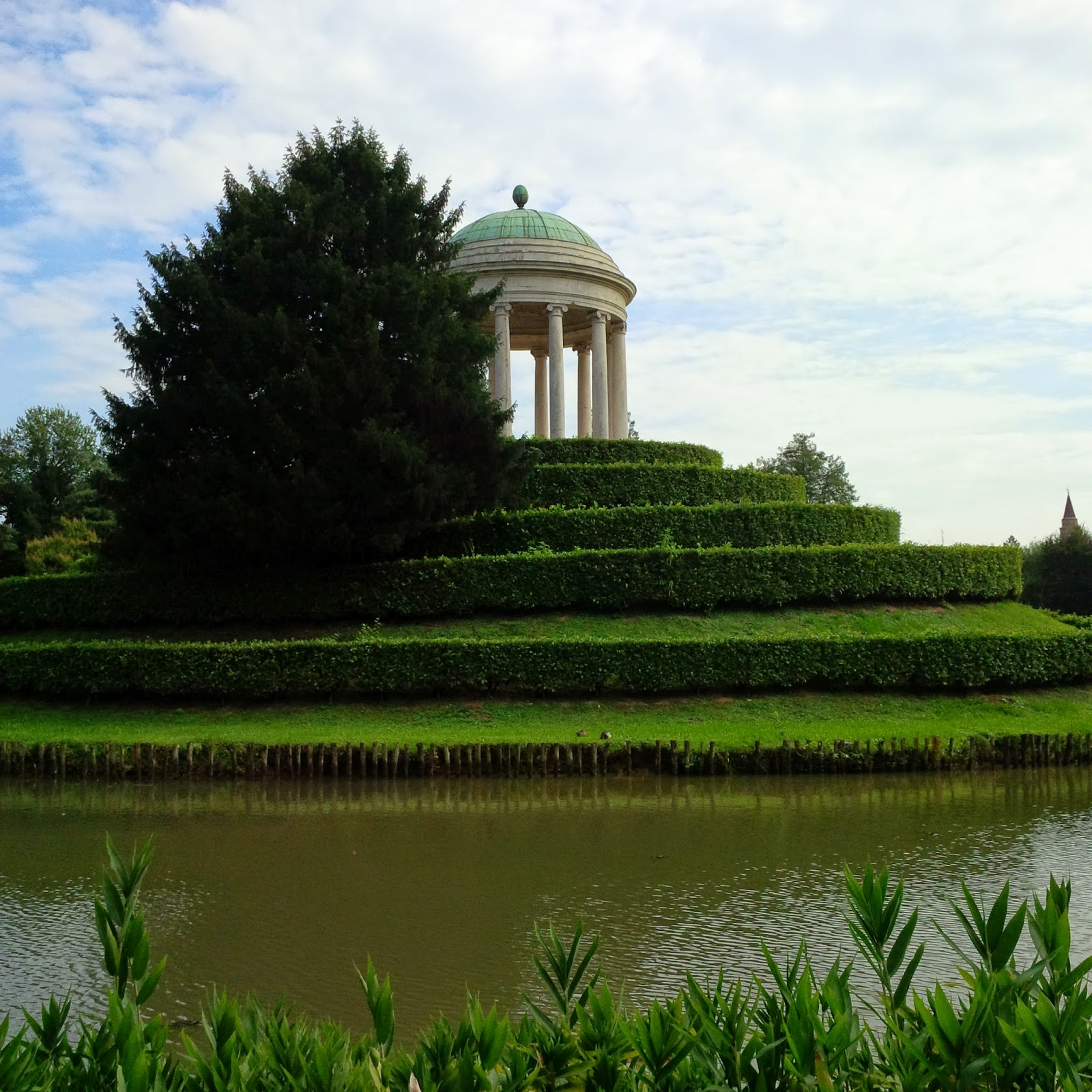 The classical temple in Parco Querini in Vicenza