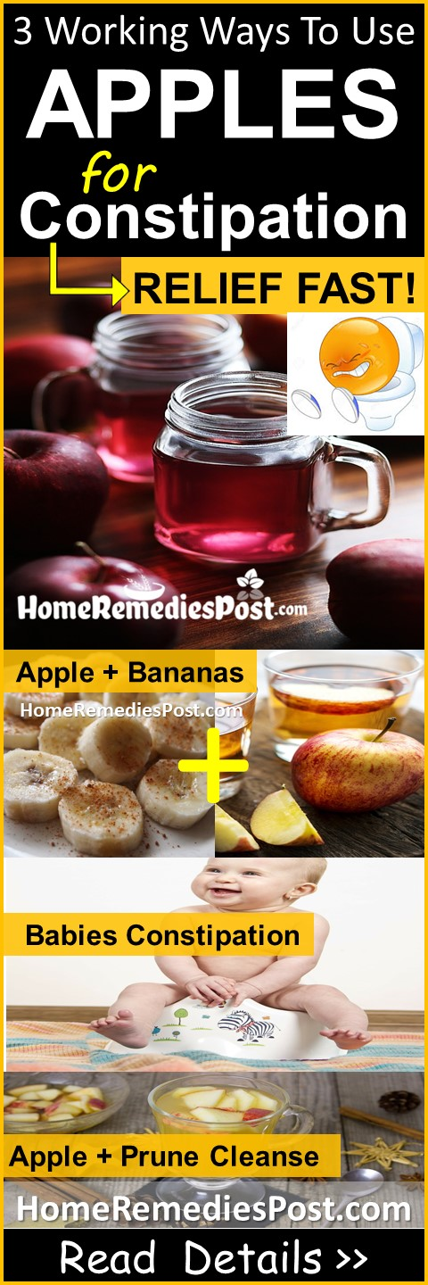 Apples for Constipation, Are Apples good for constipation, how to use Apples for constipation, How To Get Rid Of Constipation, Home Remedies For Constipation, Constipation Treatment, Constipation Relief, Constipation Home Remedies,