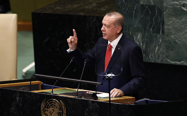 Ερντογάν: Η μοίρα επτά δισ. ανθρώπων δεν μπορεί να αφήνεται στο έλεος πέντε χωρών