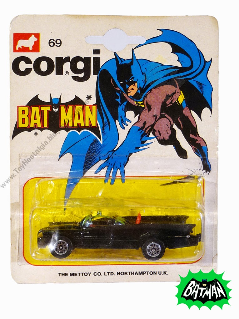 Corgi Batman Batmobile 1966 TV Show 1:64 -Blister (1978)