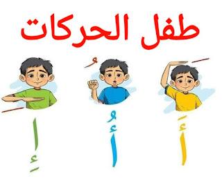 بطاقات طفل الحركات لتعليم الحروف
