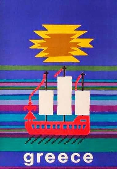 Vintage Greek travel poster