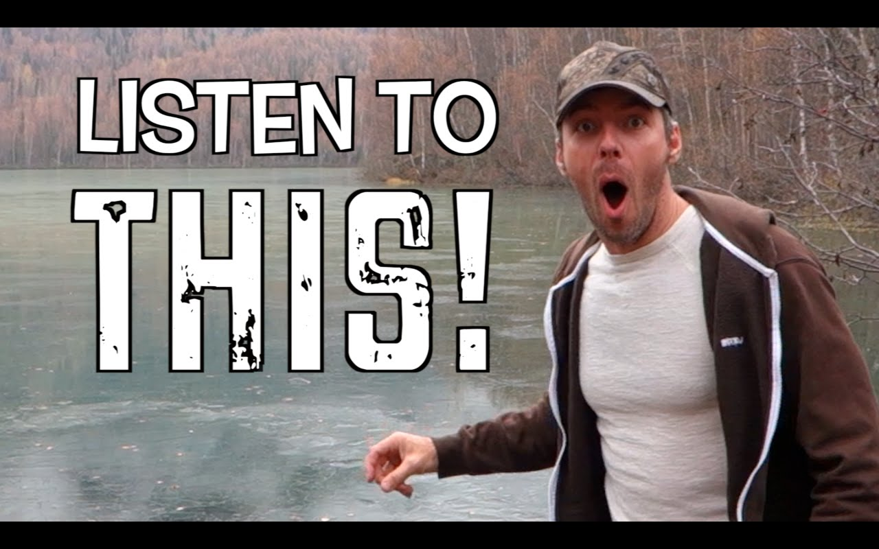 Guy Skipped Some Rocks On A Frozen Lake In Alaska And Was Amazed By The Extraordinary Sound