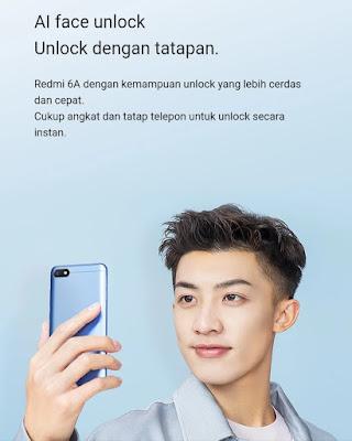 Gambar Fitur Face Unlock Redmi 6A