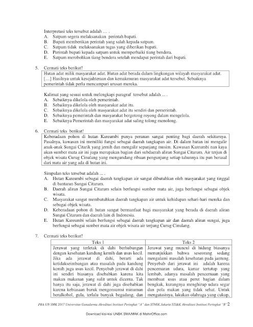 Latihan Soal UN B. Indonesia SMK AKP Paket A & B