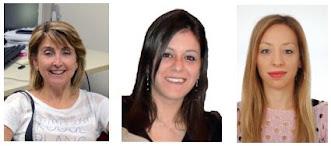 L'attuale laboratorio di Geomatica. A partire da sinistra: Professoressa D. Dominici, Ricercatrice M. Alicandro, Dottoranda S. Zollini