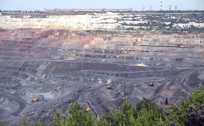 Open-pit mine of Lebedinsky GOK.