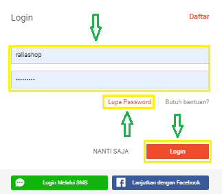 Cara Megatasi Lupa Password Shopee