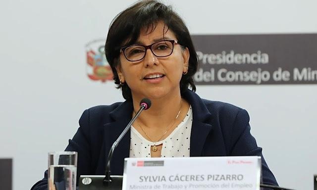 La ministra de Trabajo, Sylvia Cáceres