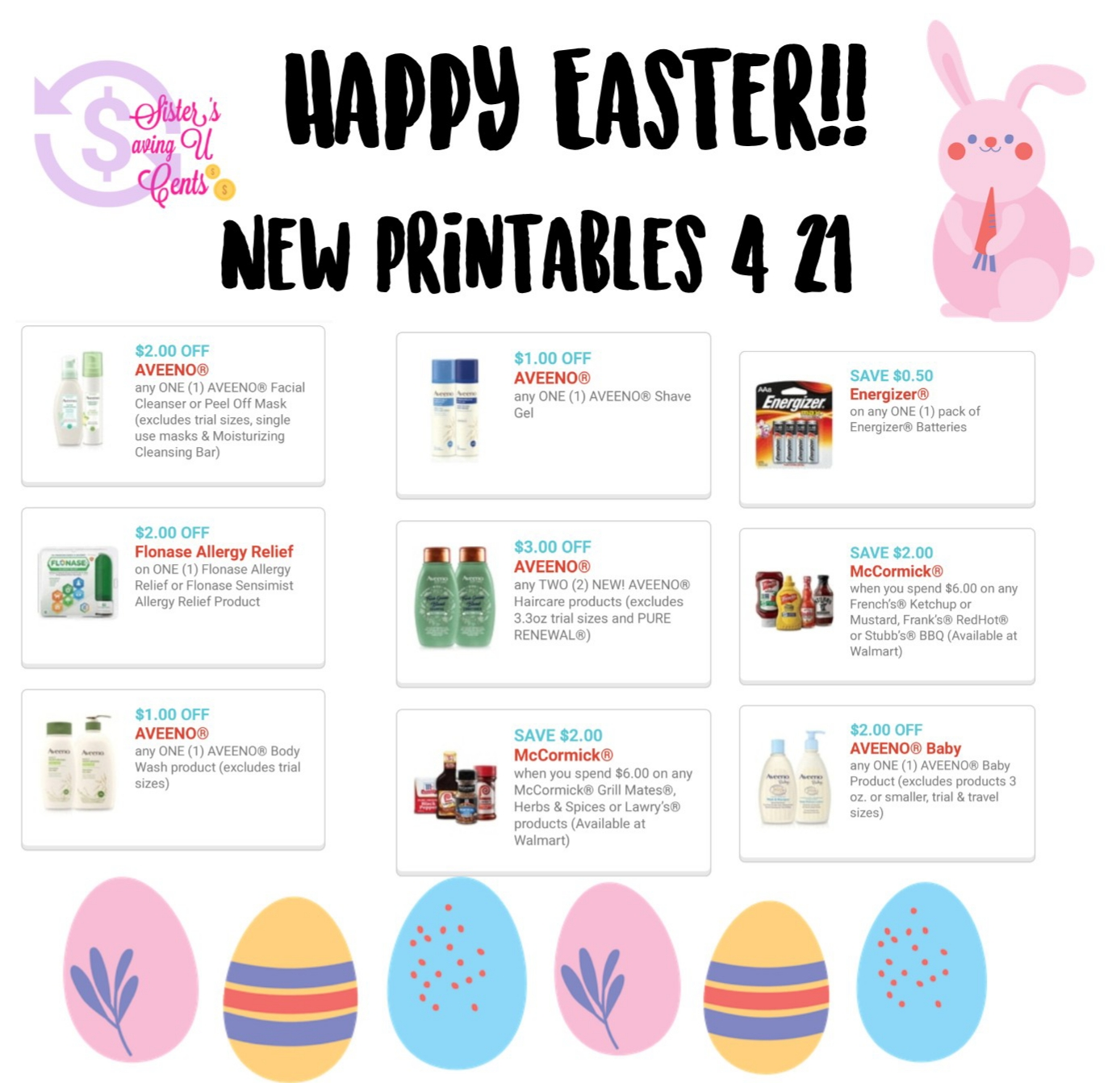 photo relating to Flonase Coupons Printable titled Pleased Easter Fresh Printable Discount codes 🐇!