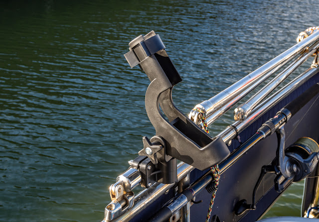 Photo of one of Phil's new rod holders