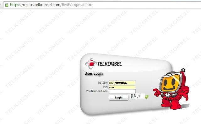 Cek Bonus Mkios dari Web mkios.telkomsel.com