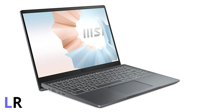 MSI Modern 14 B4MW laptop for android app development under Rs 60,000 in India.