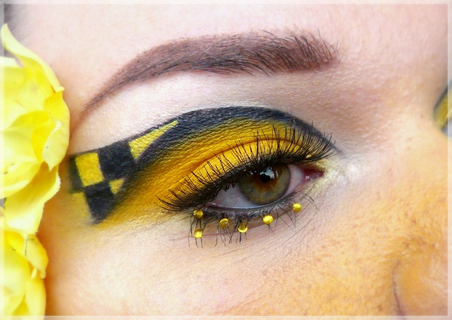 Hufflepuff Augen Make-up