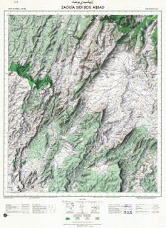 Zaouia Sidi Bou Abbad Morocco 50000 (50k) Topographic map free download