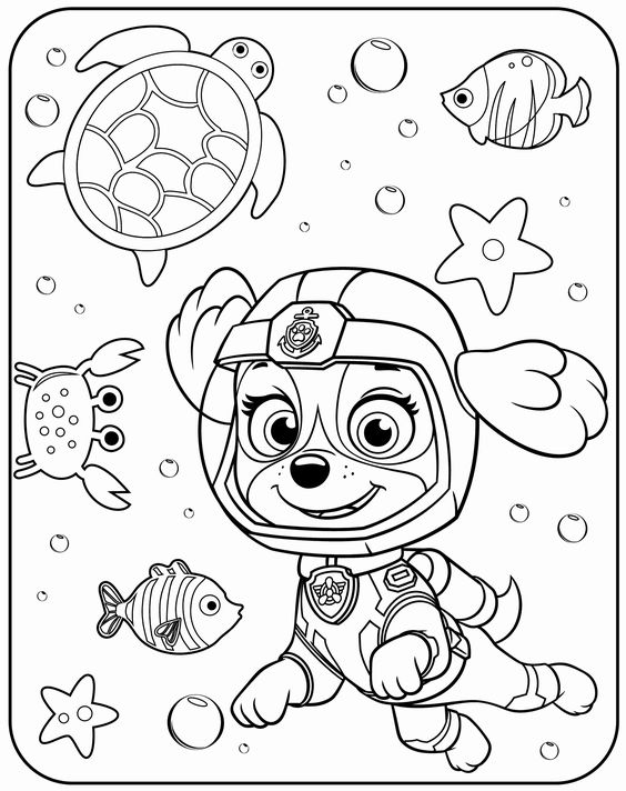 Paw patrol coloring pages 20