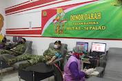 Peringati HUT Ke-74 Peralatan Angkatan Darat, Denpal Divif 2 Kostrad Donor Darah