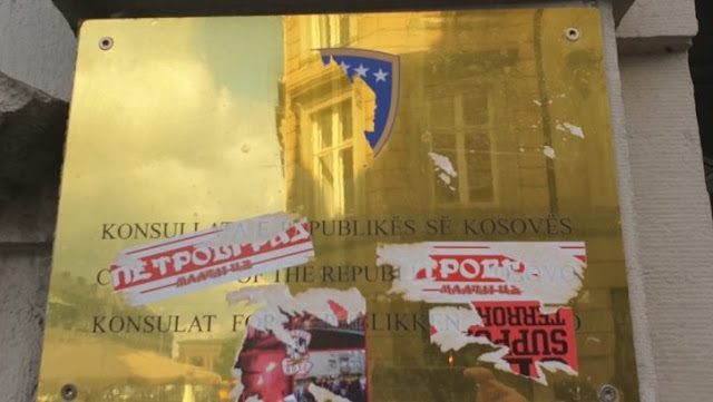 Serb hooligans attack Kosovo's consulate in Denmark?