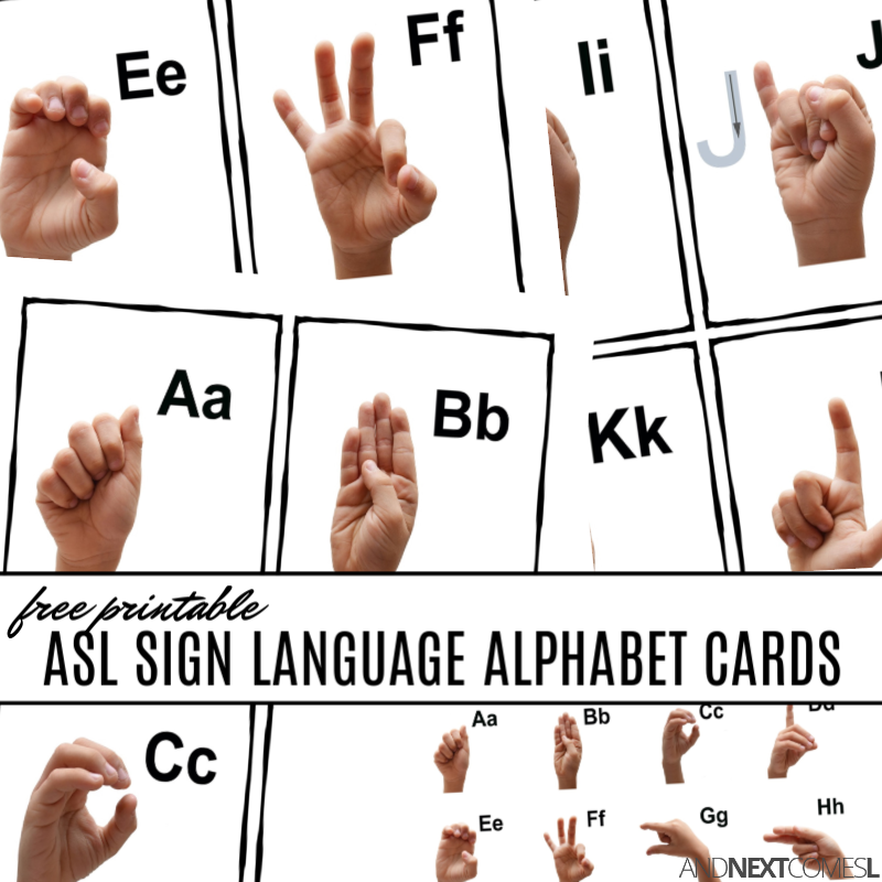 photo about Asl Printable named Absolutely free Printable ASL Indication Language Alphabet Playing cards Poster