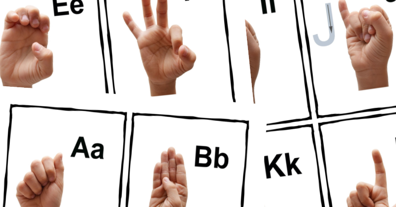 picture relating to Printable Asl Alphabet known as Totally free Printable ASL Indicator Language Alphabet Playing cards Poster