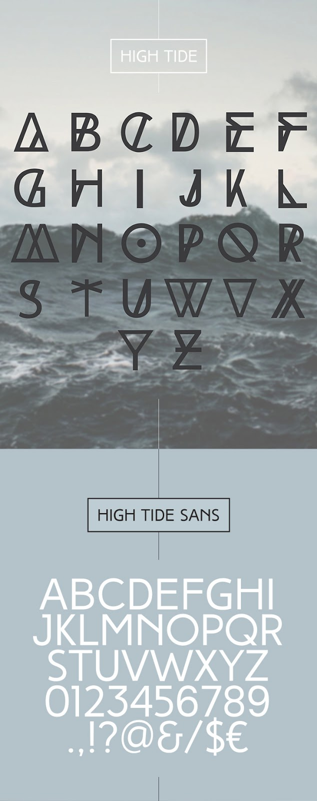 Font High Tide is very unique and fancy