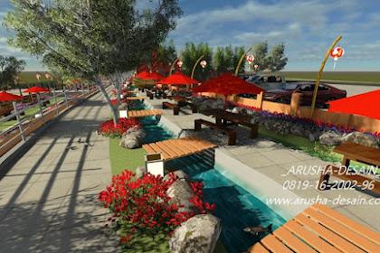 Desain Cafe Outdoor Tenda Taman menyatu dengan Alam